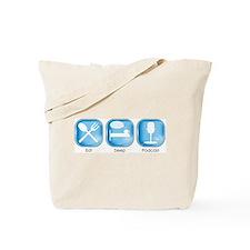 Eat Sleep PODCAST Tote Bag