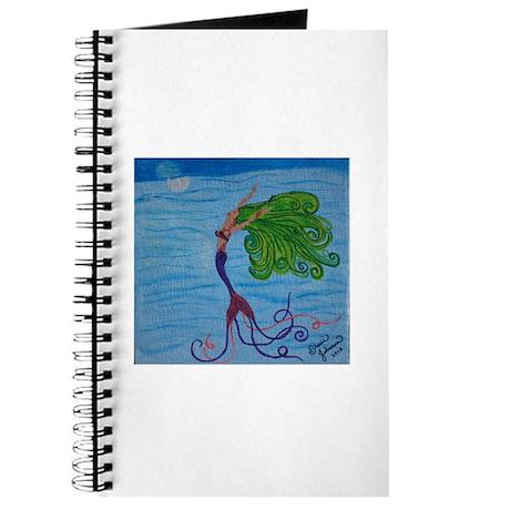 Mermaid with Green Hair Journal