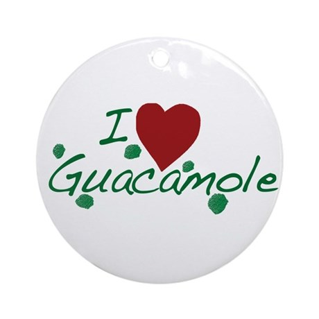 I Love Guacamole Ornament (Round)