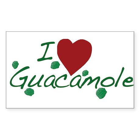 I Love Guacamole Sticker (Rectangle 10 pk)