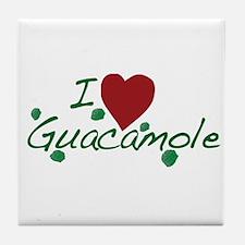 I Love Guacamole Tile Coaster