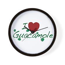 I Love Guacamole Wall Clock