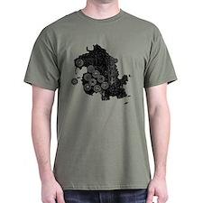 Dharma Station Identification Dark T-Shirt