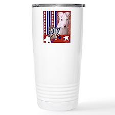 July 4th Firecracker Pitbull Travel Mug