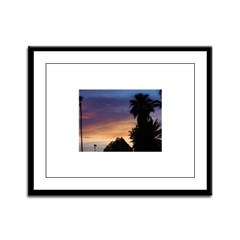 Purple Skies Framed Panel Print