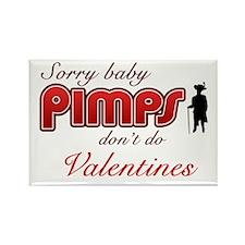Valentine's Pimp Rectangle Magnet