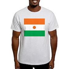 Niger Flag Ash Grey T-Shirt