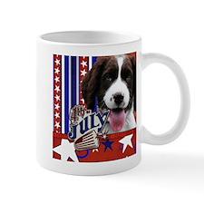 July 4th Firecracker Spaniel Mug