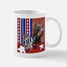 July 4th Firecracker Doberman Mug