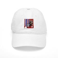 July 4th Firecracker Doberman Baseball Cap