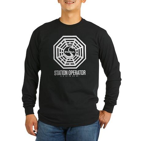 Swan Station Operator Long Sleeve Dark T-Shirt