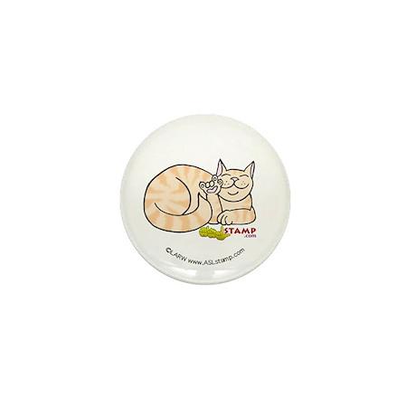 Orange Tabby ASL Kitty Mini Button