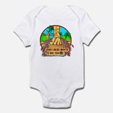 John Locke Smoke Monster! Infant Bodysuit