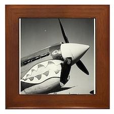 P-40 Showing Teeth Framed Tile