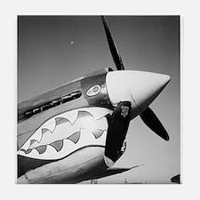 P-40 Showing Teeth Tile Coaster