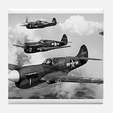 P-40 Squadron Tile Coaster