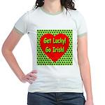 Get Lucky! Go Irish! Jr. Ringer T-Shirt