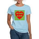 Get Lucky! Go Irish! Women's Pink T-Shirt