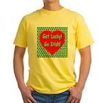 Get Lucky! Go Irish! Yellow T-Shirt