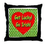 Get Lucky! Go Irish! Throw Pillow