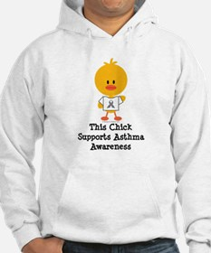 Asthma Awareness Chick Hoodie