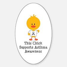 Asthma Awareness Chick Decal