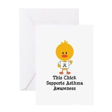 Asthma Awareness Chick Greeting Card
