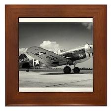 P-40 Waiting To Go Framed Tile