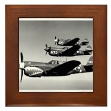P-40 Squad Having Fun Framed Tile