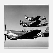 P-40 Squad Having Fun Tile Coaster