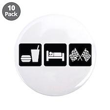 """Eat Sleep Race 3.5"""" Button (10 pack)"""