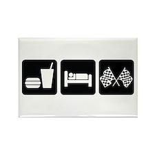 Eat Sleep Race Rectangle Magnet (10 pack)