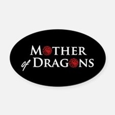 GOT Mother Of Dragons Oval Car Magnet