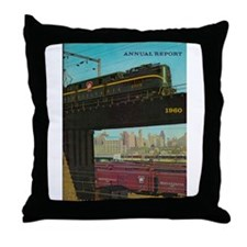 PENNA. RAILROAD 1960 Cover Throw Pillow