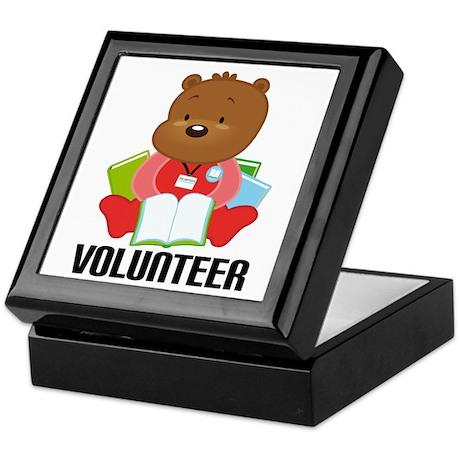 Volunteer Librarian Bear Keepsake Box