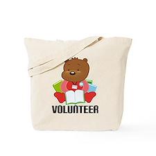 Volunteer Librarian Bear Tote Bag