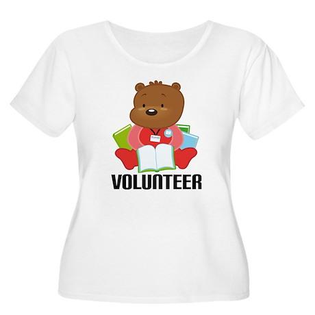 Volunteer Librarian Bear Women's Plus Size Scoop N