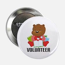 """Volunteer Librarian Bear 2.25"""" Button"""