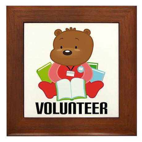 Volunteer Librarian Bear Framed Tile