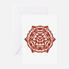 Red Snowflake Greeting Cards (Pk of 10)
