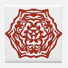 Red Snowflake Tile Coaster