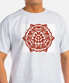 Red Snowflake Ash Grey T-Shirt