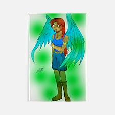 Angelic Girl Rectangle Magnet