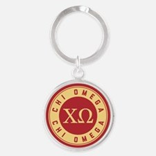 Chi Omega Letters Keychains