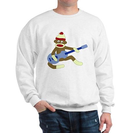 Sock Monkey Blue Guitar Sweatshirt