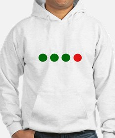 Green Green Green Red Dots Hoodie