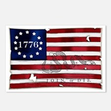1776 American Flag Postcards (Package of 8)