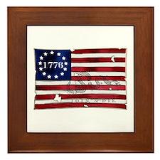 1776 American Flag Framed Tile