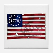 1776 American Flag Tile Coaster