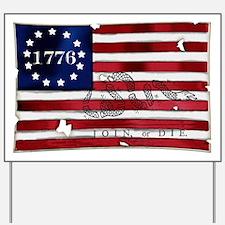 1776 American Flag Yard Sign